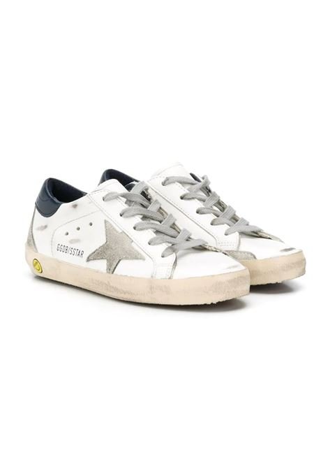 SUPERSTAR SNEAKERS WITH BLUE BACK GOLDEN GOOSE KIDS | Sneakers | GYF00102 F00041410303