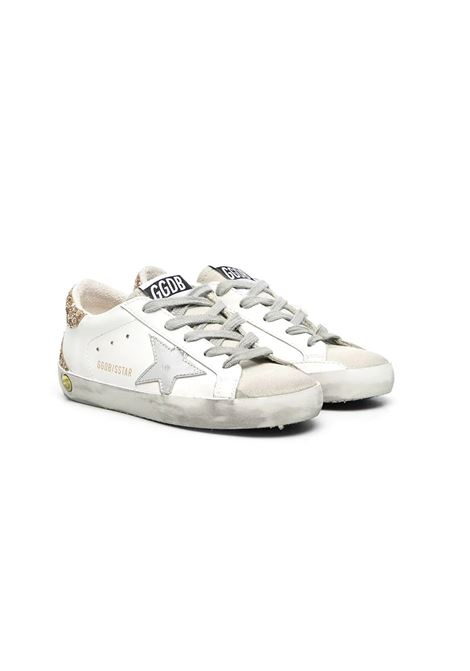 SUPERSTAR SNEAKERS WITH GLITTER BACK GOLDEN GOOSE KIDS | Sneakers | GYF00102 F00098010479