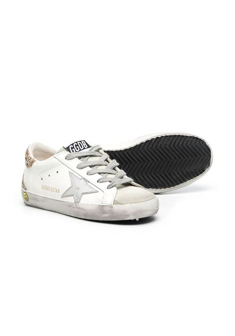 SUPERSTAR SNEAKERS WITH GLITTER BACK GOLDEN GOOSE KIDS | GYF00102 F00098010479