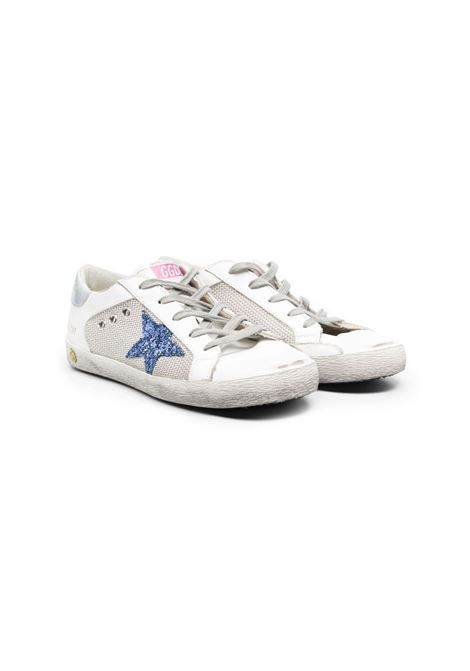 SNEAKERS WITH LACES AND GLITTER STAR GOLDEN GOOSE KIDS | Sneakers | GYF00103 F00107110481