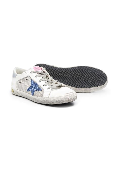 SNEAKERS WITH LACES AND GLITTER STAR GOLDEN GOOSE KIDS | GYF00103 F00107110481