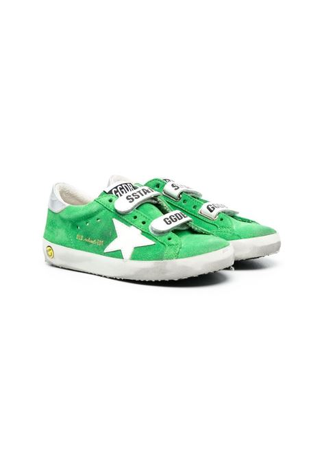 GREEN SNEAKERS WITH TEARS GOLDEN GOOSE KIDS | Sneakers | GYF00111 F00117735701