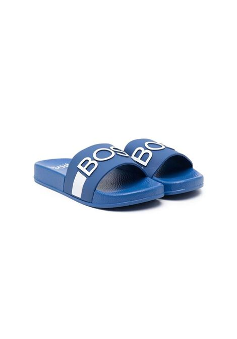 SLIPPERS WITH print HUGO BOSS KIDS | Sandals | J29246871