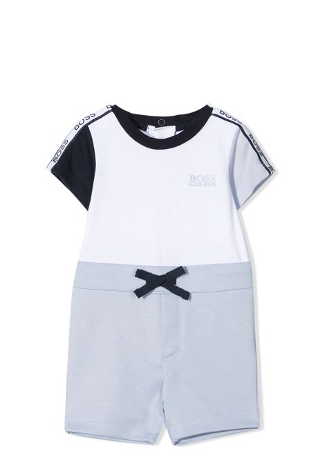 JUMPSUIT WITH SLEEVES AND SHORT LEGS HUGO BOSS KIDS | Rompers | J9427710B