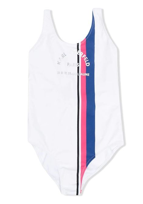 ONE-PIECE SWUIMSUIT WITH PRINT KARL LAGERFELD KIDS | Swimsuits | Z10100T10B