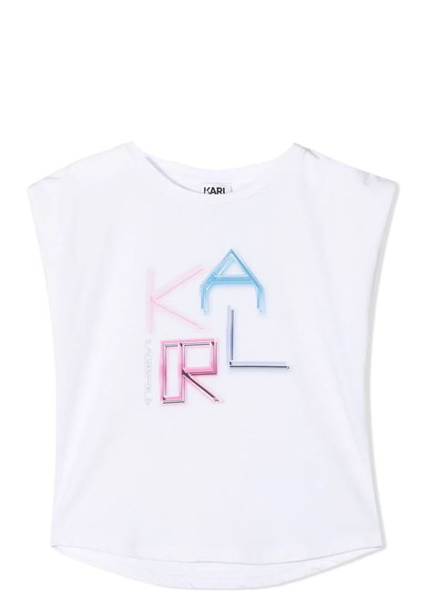 SLEEVELESS T-SHIRT WITH PRINT KARL LAGERFELD KIDS | T-shirt | Z1529310B