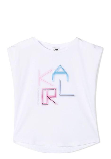 T-SHIRT SMANICATA CON STAMPA KARL LAGERFELD KIDS | T-shirt | Z1529310B