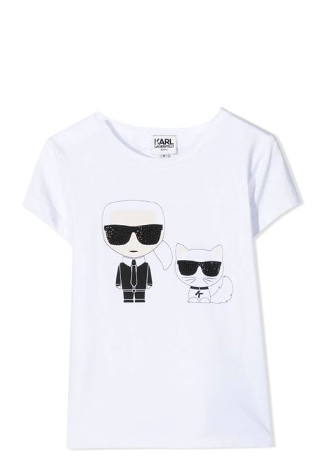 T-SHIRT WITH PRINT KARL LAGERFELD KIDS | T-shirt | Z1529710B