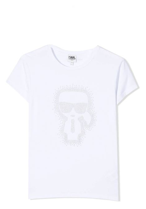 T-SHIRT WITH RHINESTONE APPLICATION  KARL LAGERFELD KIDS | T-shirt | Z1529810B