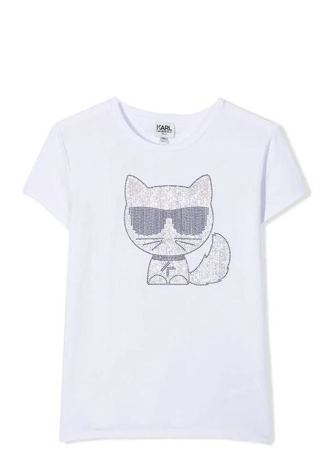 T-SHIRT WITH DECORATION KARL LAGERFELD KIDS | T-shirt | Z1530010B