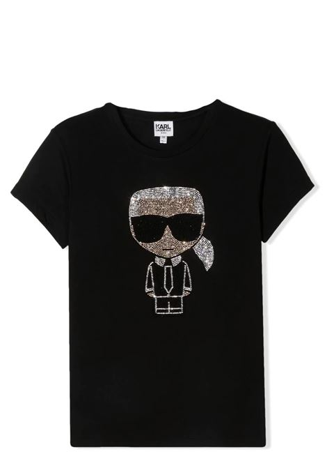 T-SHIRT WITH RHINESTONES KARL LAGERFELD KIDS | T-shirt | Z15M5309B