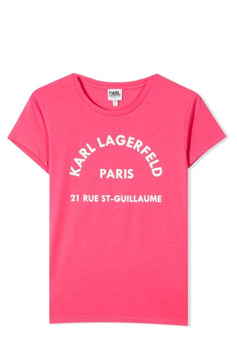 T-SHIRT CON STAMPA KARL LAGERFELD KIDS | T-shirt | Z15M59T488