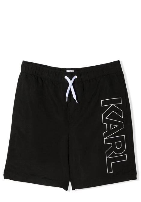 COSTUME DA BAGNO CON STAMPA KARL LAGERFELD KIDS | Costumi | Z20055T09B
