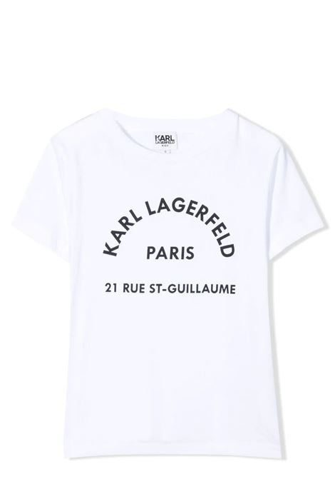 CREW NECK T-SHIRT WITH PRINT KARL LAGERFELD KIDS | T-shirt | Z25272T10B