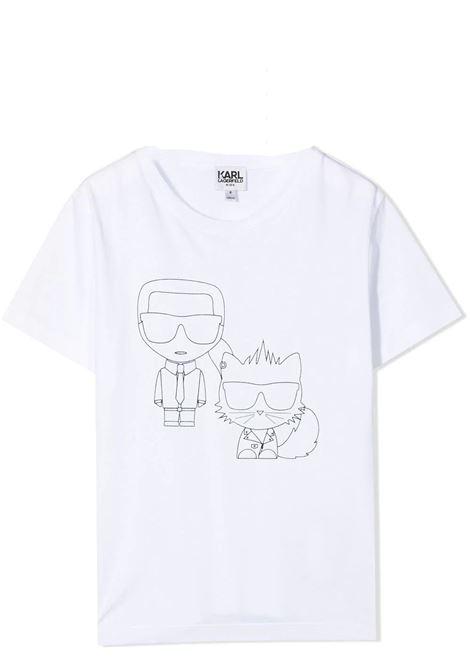 T-SHIRT CON STAMPA KARL LAGERFELD KIDS | T-shirt | Z2527310B