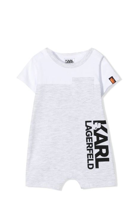 JUMPSUIT WITH LEGS AND SHORT SLEEVES KARL LAGERFELD KIDS | Rompers | Z94058M01