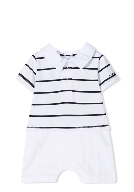 JUMPSUIT WITH STRIPED POLO KARL LAGERFELD KIDS | Rompers | Z94059N50