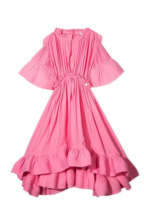 DRESS WITH RUCHES LANVIN KIDS | Dress | N1201047F