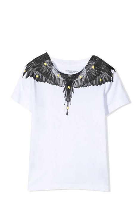 T-SHIRT WITH WINGS PRINT MARCELO BURLON KIDS | T-shirt | 1417 0010B000