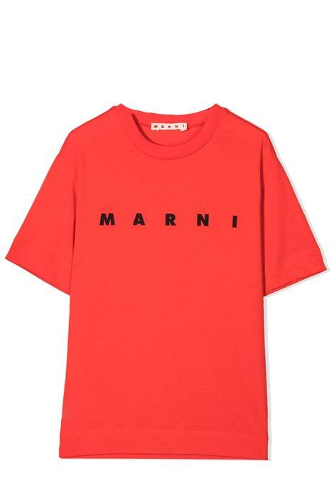 PRINT T-SHIRT MARNI KIDS | T-shirt | MT135U-M002MV-M00C7T0M417