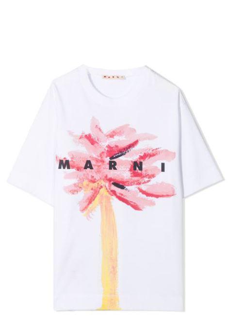 T-SHIRT CON STAMPA MARNI KIDS | T-shirt | MT137U-M00155-M00HZT0M306