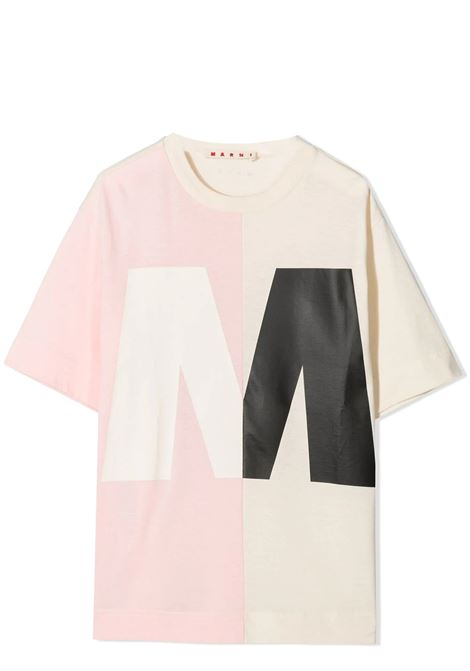 T-SHIRT WITH PRINT MARNI KIDS | T-shirt | MT138U-M00163-M00H70M306
