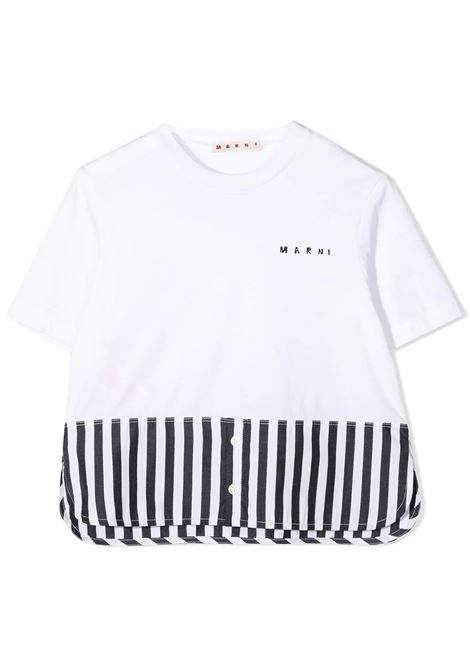 STRIPED HEM T-SHIRT MARNI KIDS |  | MT156F-M0005-M00IST0M803