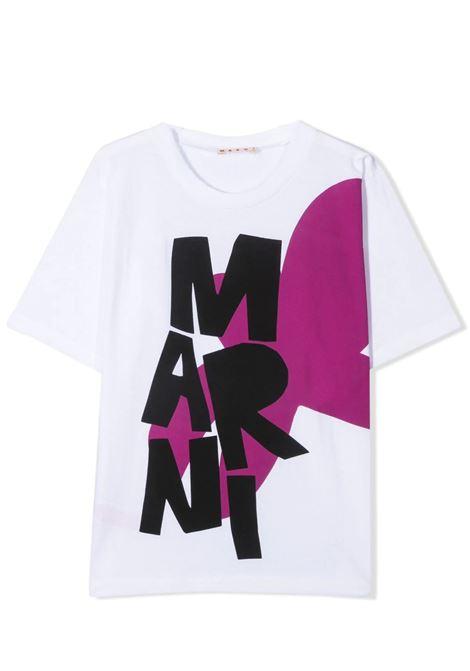 T-SHIRT CON STAMPA MARNI KIDS | T-shirt | MT158F-M00007-M00H70M100