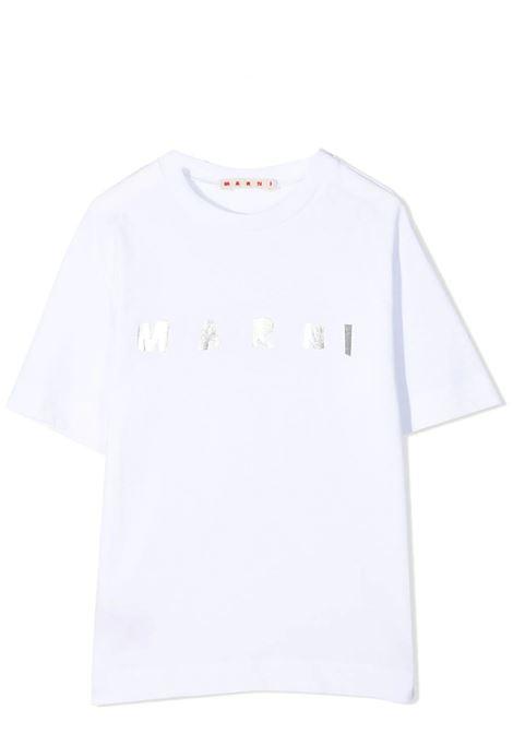 T-SHIRT CON STAMPA MARNI KIDS | T-shirt | MT162F-M00031-M00C7T0M100