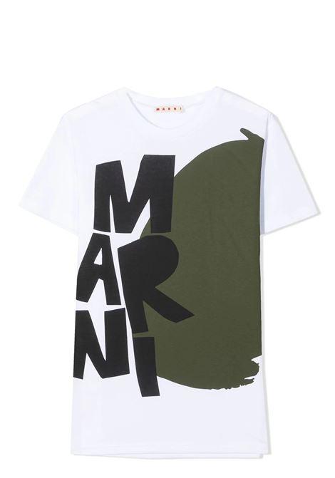 T-SHIRT CON STAMPA MARNI KIDS | T-shirt | MT44M-M00152-M00H70M100