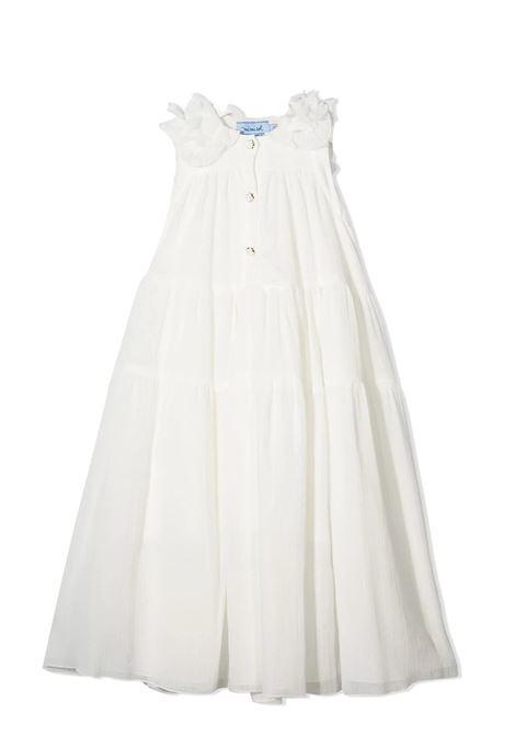 LAYERED DRESS WITHOUT SLEEVES MIMISOL | Dress | MFAB214 LU TS0412CRM