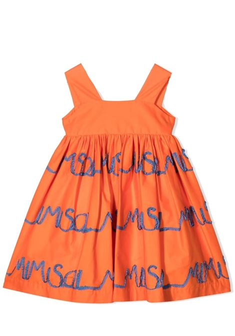DRESS WITH EMBROIDERY MIMISOL | Dress | MFAB247 TS0436ORG
