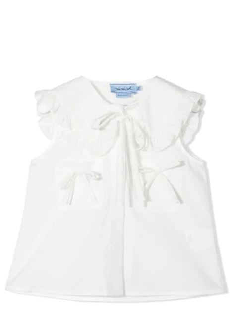 SLEEVELESS SHIRT WITH BOW MIMISOL | Top | MFTP030 TS0053TCRM