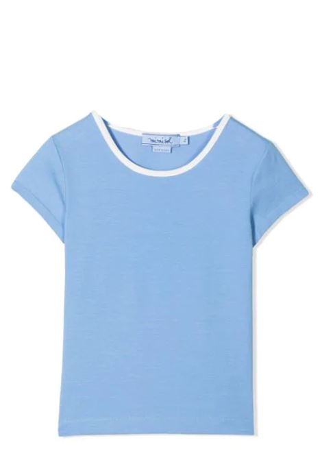 T-SHIRT WITH CONTRASTING COLLAR MIMISOL | T-shirt | MFTS045 TS0465LTB