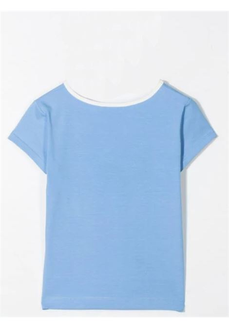 T-SHIRT WITH CONTRASTING COLLAR MIMISOL | MFTS045 TS0465LTB