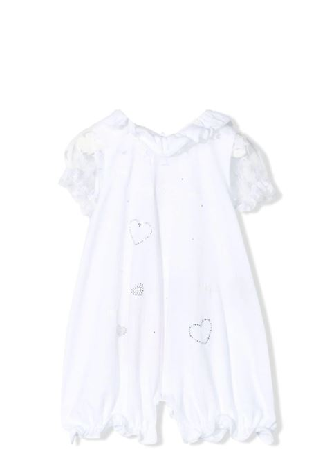 WHITE JUMPSUIT WITH DECORATIONS MISS BLUMARINE KIDS | Rompers | MBL328701