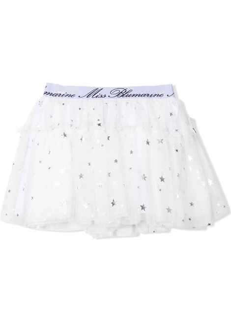 SKIRT IN WHITE TULLE MISS BLUMARINE KIDS | Skirt | MBL344601