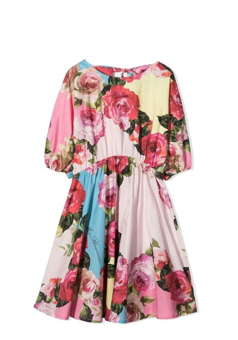 FLARED DRESS WITH FLOWERS MISS BLUMARINE KIDS | Dress | MBL3625VV