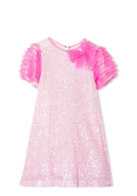 PINK DRESS WITH SEQUINS MISS BLUMARINE KIDS | Dress | MBL383403