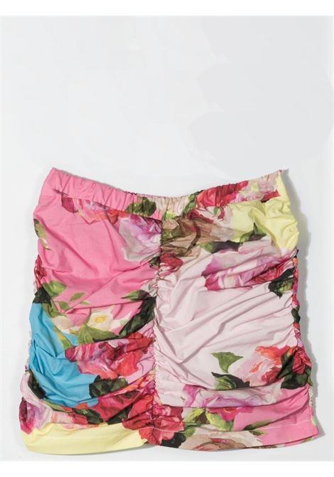 Floral mini skirt MISS BLUMARINE KIDS | MBL3886VV