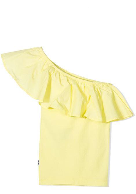 One-shoulder girl top with ruffles MOLO KIDS | T-shirt | 2S21A1028290