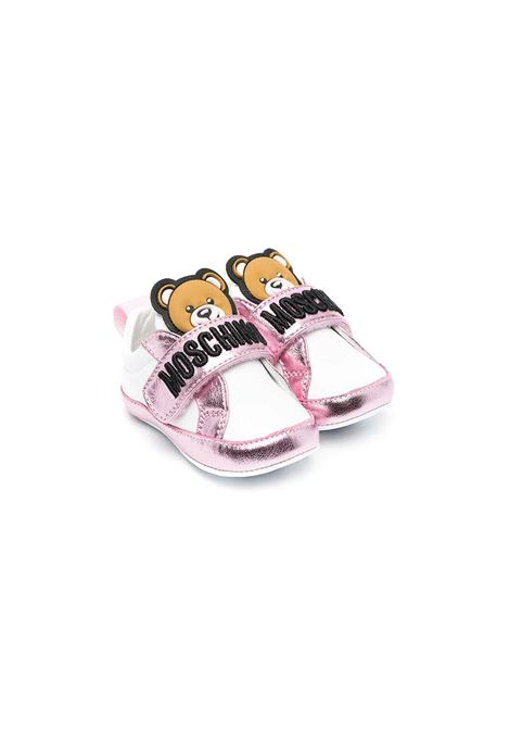 CRADLE SHOES WITH TEDDY BEAR MOSCHINO KIDS | Sneakers | 673391
