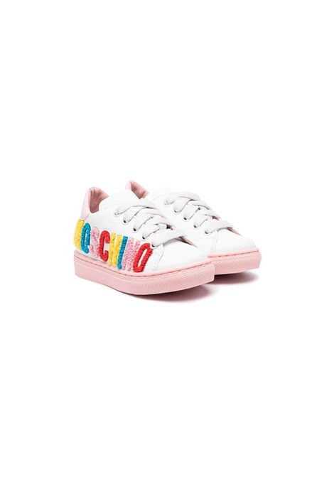 Sneakers with multicolor writing MOSCHINO KIDS | Sneakers | 673871