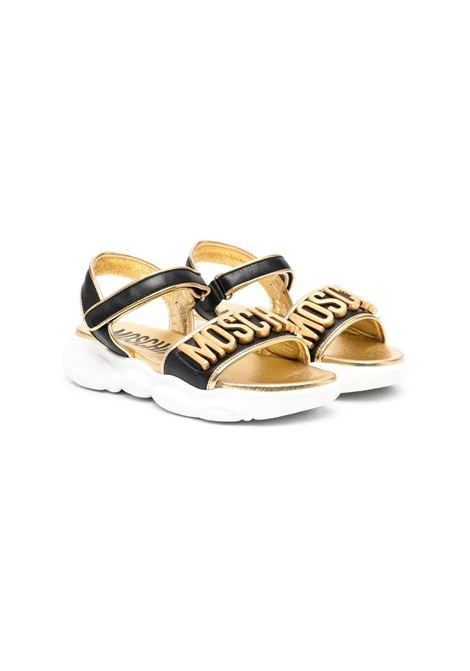 SANDALS WITH APPLICATION MOSCHINO KIDS | Sandals | 674611