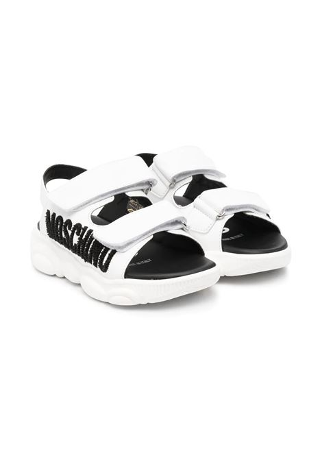 SANDALS WITH WRITING MOSCHINO KIDS | Sandals | 6748201