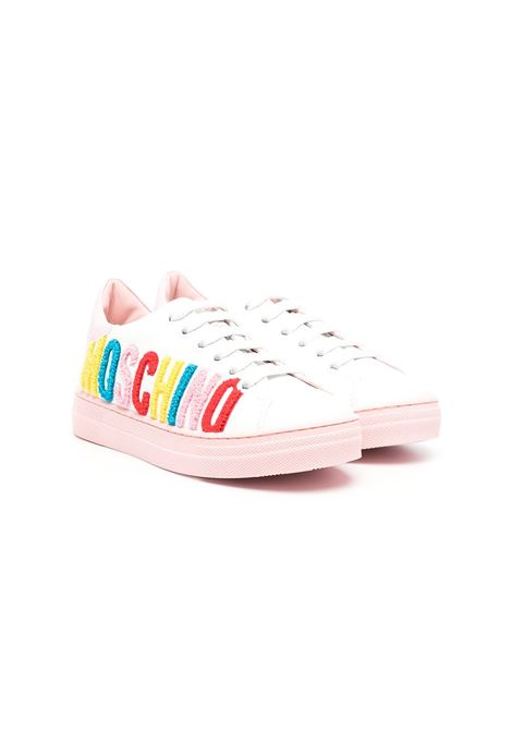SNEAKERS WITH MULTICOLORED WRITING MOSCHINO KIDS | Sneakers | 67495T1