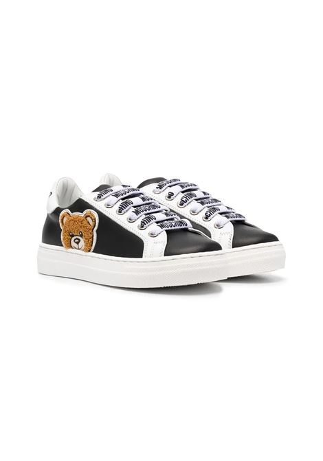 SNEAKERS WITH APPLICATIONS MOSCHINO KIDS | Sneakers | 6749701