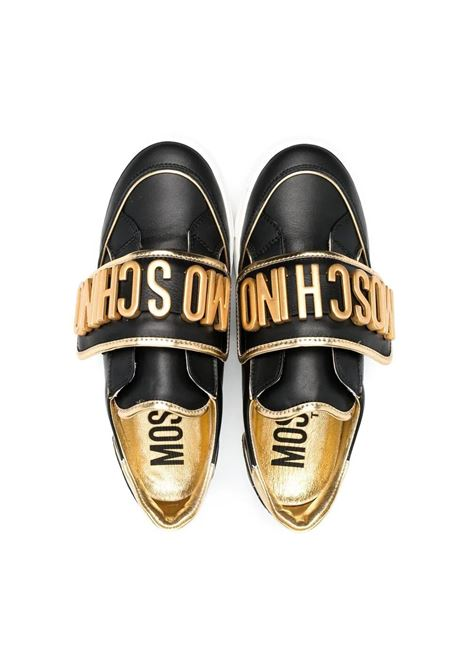 SNEAKERS WITH APPLICATION MOSCHINO KIDS | 674992