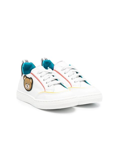 SNEAKERS WITH APPLICATIONS MOSCHINO KIDS | Sneakers | 675011