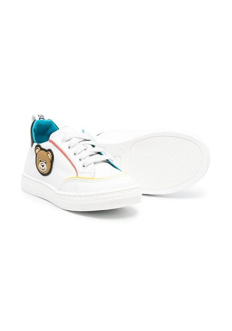 SNEAKERS WITH APPLICATIONS MOSCHINO KIDS | 675011